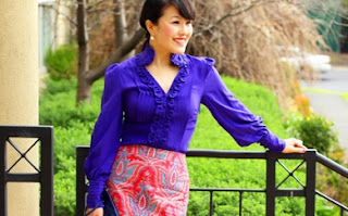 Raj Paisley Pencil Skirt