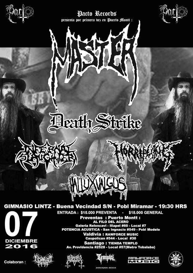 "Master en Pto. Montt ""Epiphany of Hate Southamerican Tour 2016"