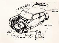 Prototip Mini desenat de Alec Issigonis in 1958