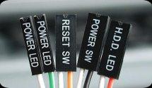 kabel kabel power led, reset sw, power sw, hdd led