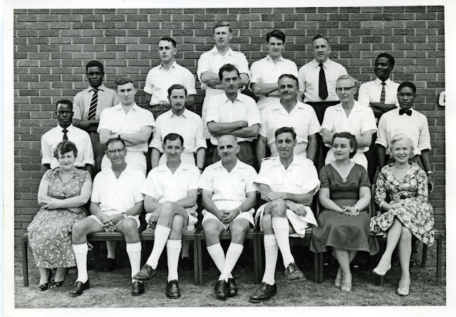 Staff of the Geological Survey Department of Northern Rhodesia, 1956