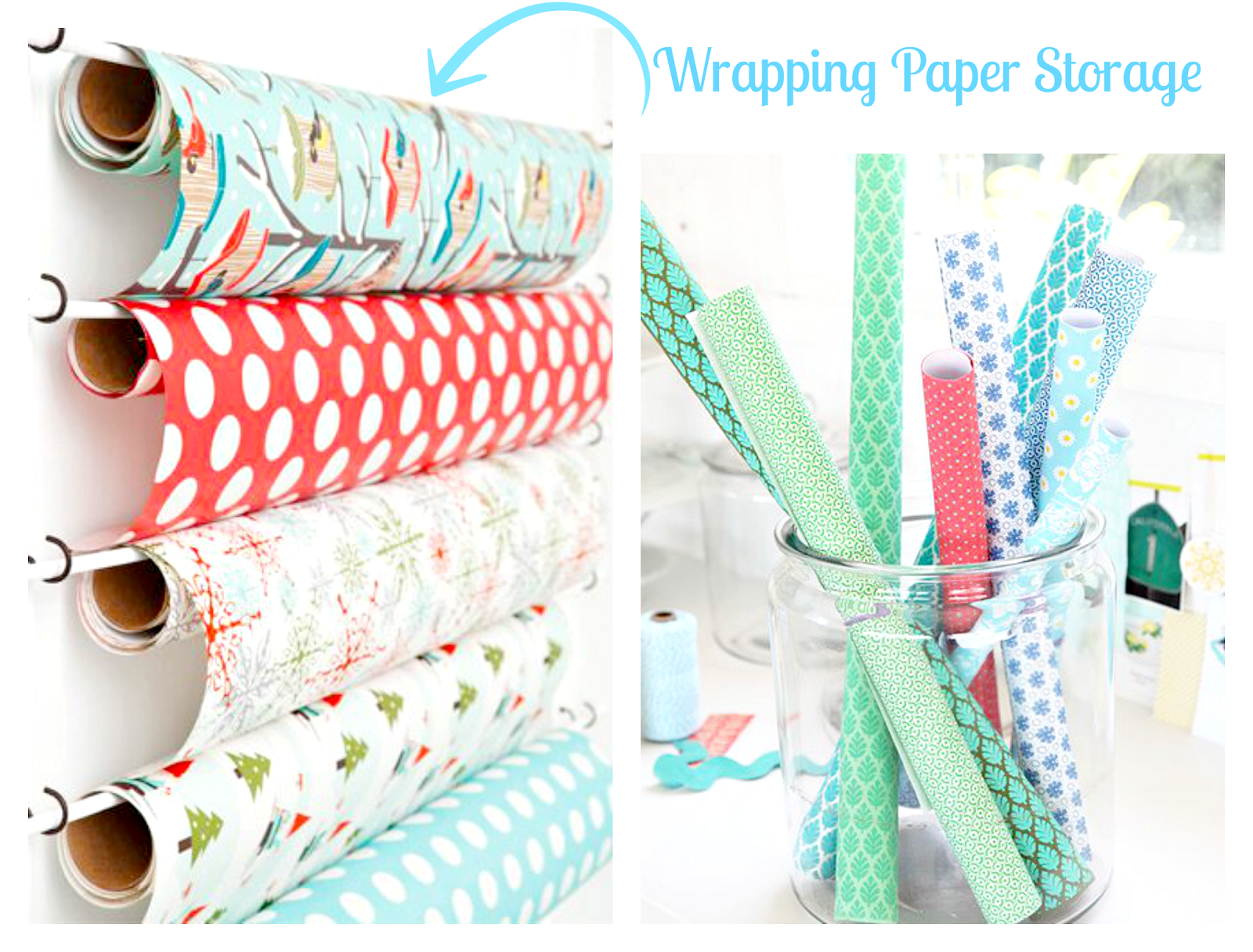 wrapping paper organizing