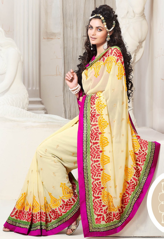 Latest Indian Bridal Saree 2013 l Party Wear Indian Saree Collection ...