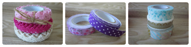 Lace tape, fabric tape y washi tape