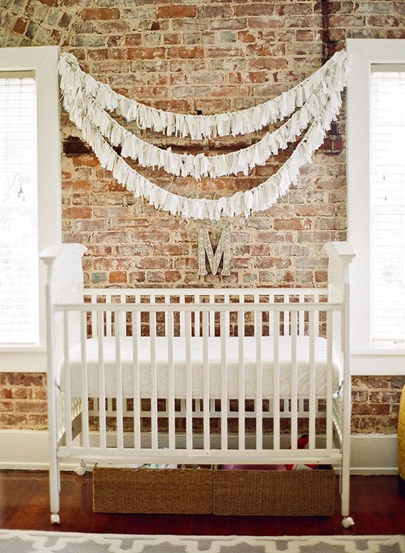 Brick Walls in a Baby Nursery