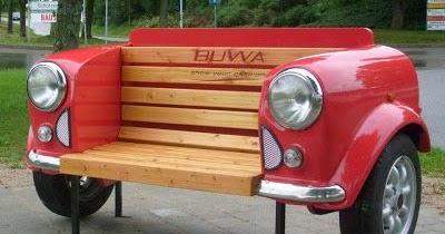 Originales muebles hechos con partes de coches