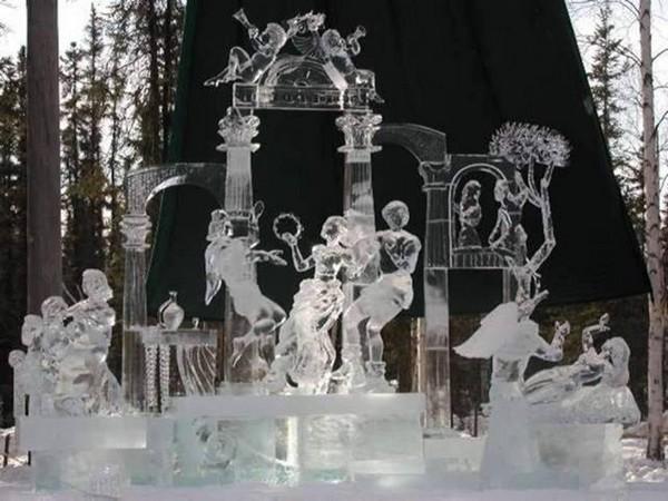 patung es indah