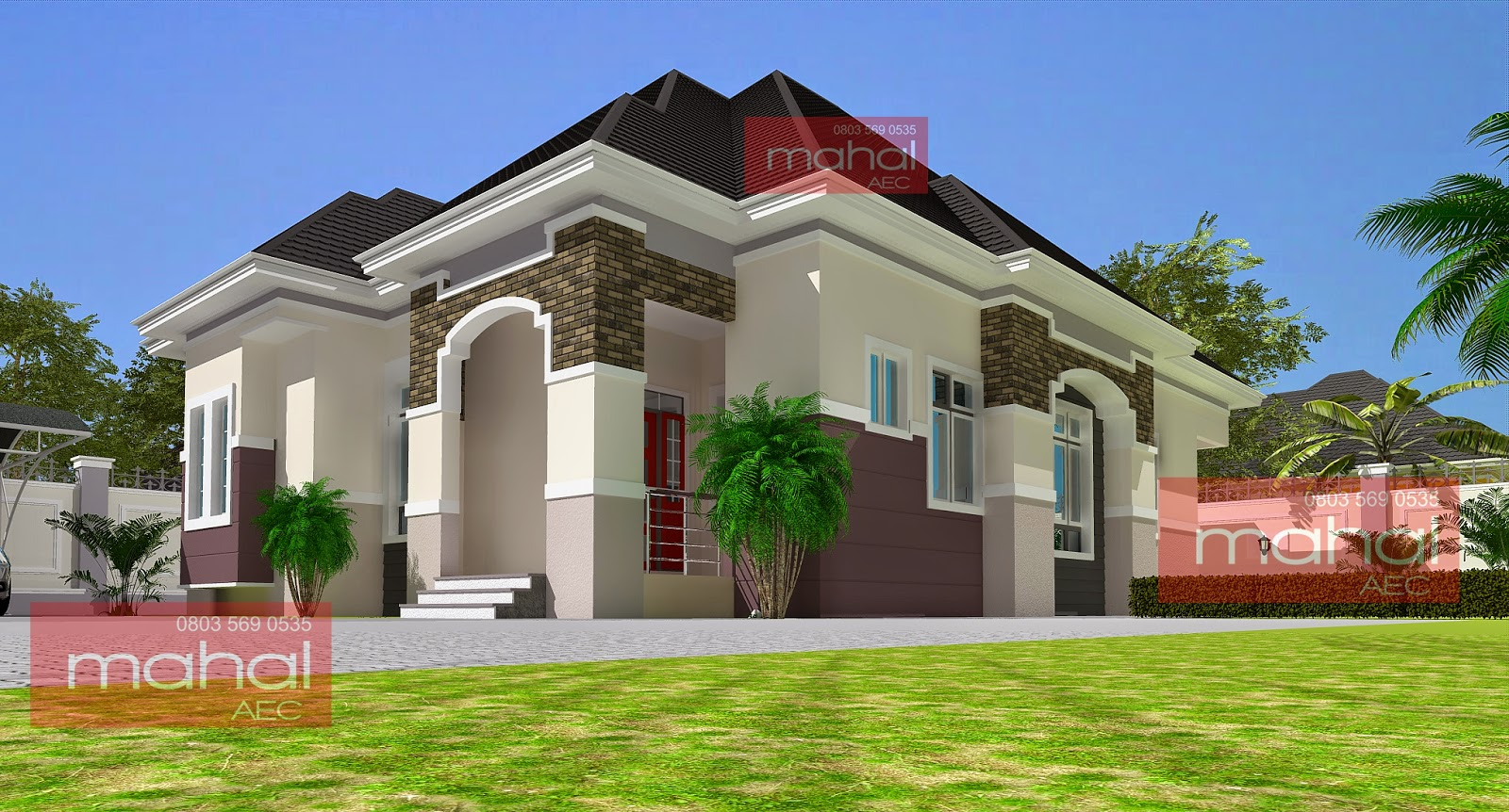Contemporary nigerian residential architecture 3 bedroom for Architectural designs for 3 bedroom flat