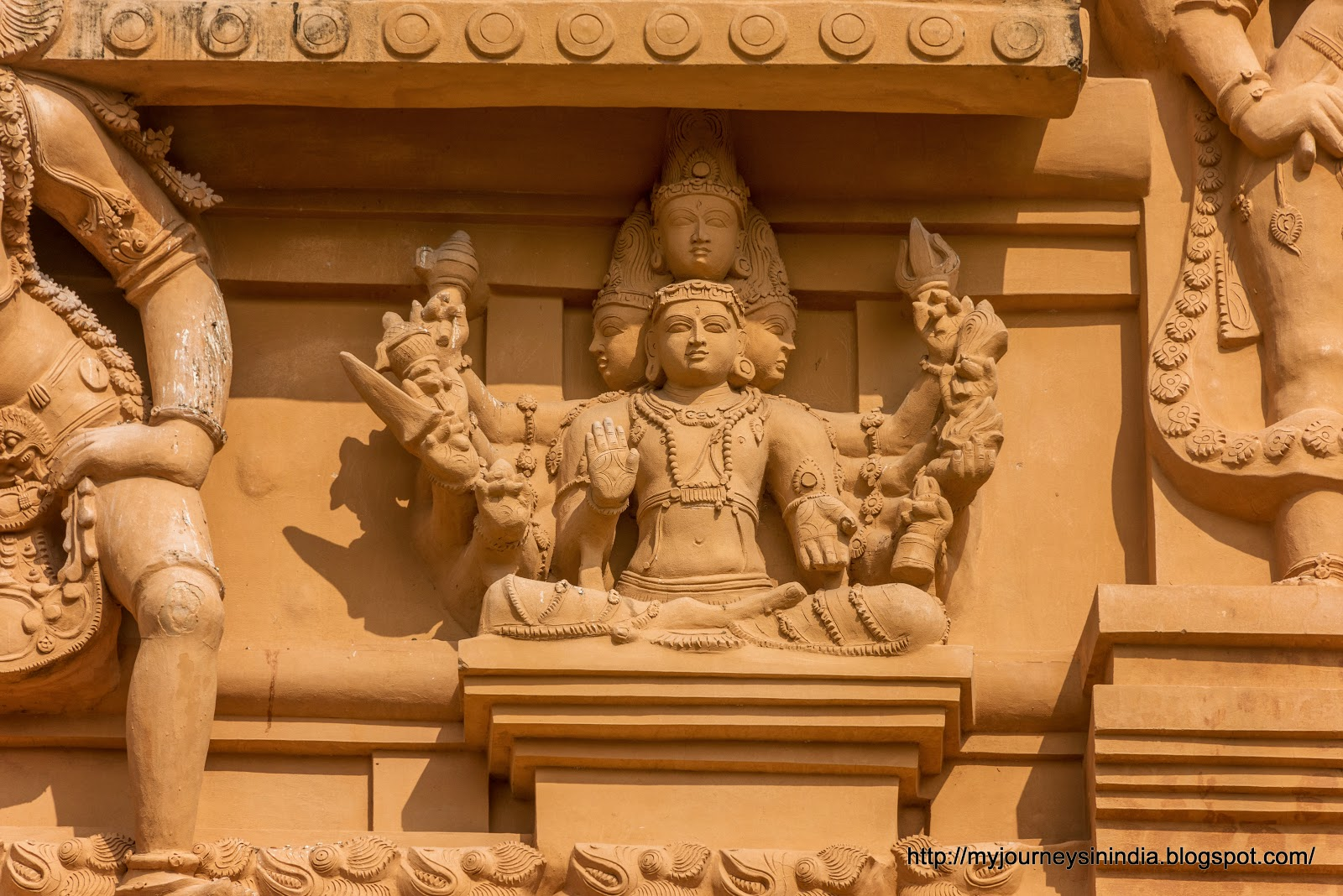 Thanjavur Brihadeeswarar Temple Tower sculptures Brahma