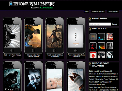 iPhone Wallpapers Blogger Theme