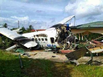 Gambar Kapal Terbang MASwings Terhempas di Kudat, Seorang Maut