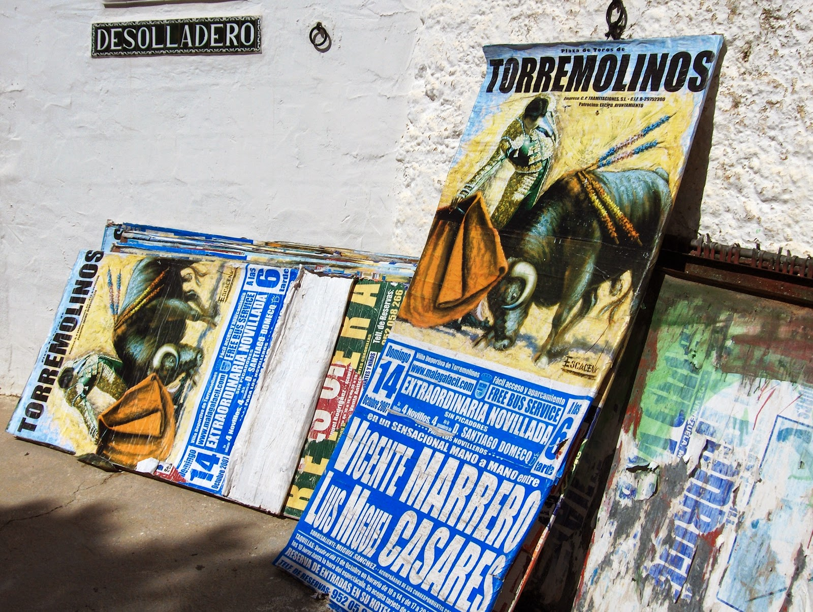 Bull fighting posters