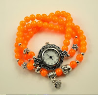 Jam Tangan Unik Bohemian Watch Orange