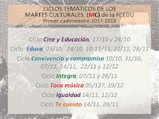 CICLOS DEL PRIMER SEMESTRE (MC 17-18)