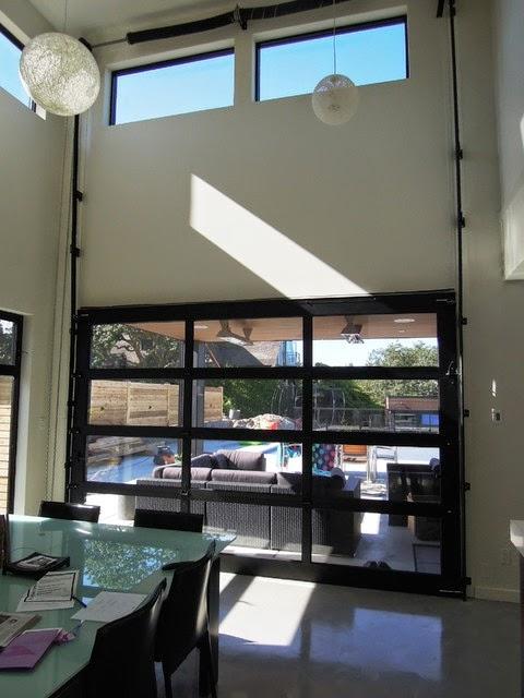 Aluminum frame glass garage doors