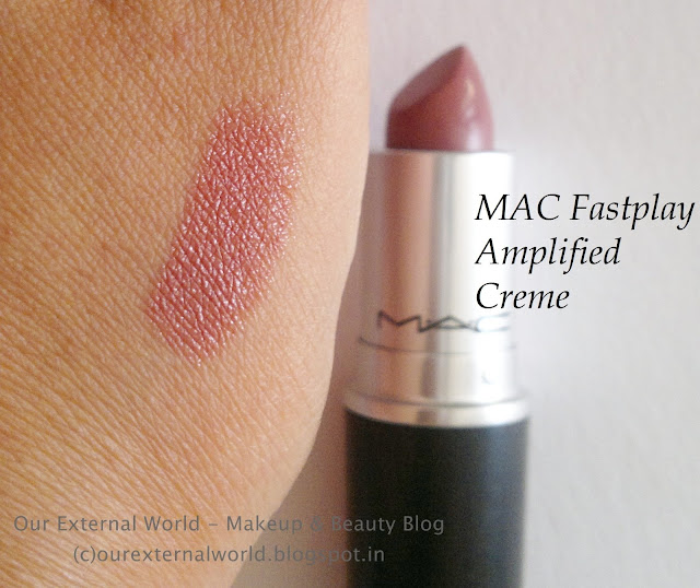 MAC Amplified Creme - Fast Play - Review, Swatch, FOTD