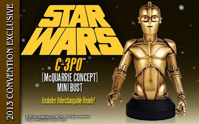 SDCC 13 Exclusive McQuarrie C-3PO Star Wars Mini Bust by Gentle Giant