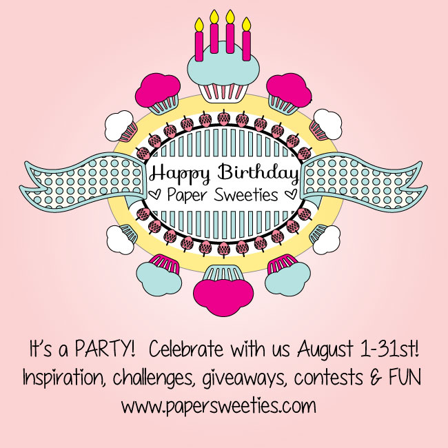 Happy 4th Birthday Paper Sweeties!!