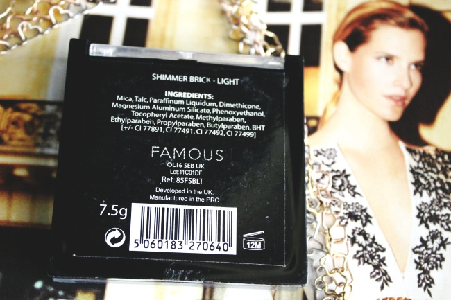 Famous by Sue Moxley Shimmer brick (Light).Bobbi Brown Shimmer Brick dupe. Best shimmer brick dupes.