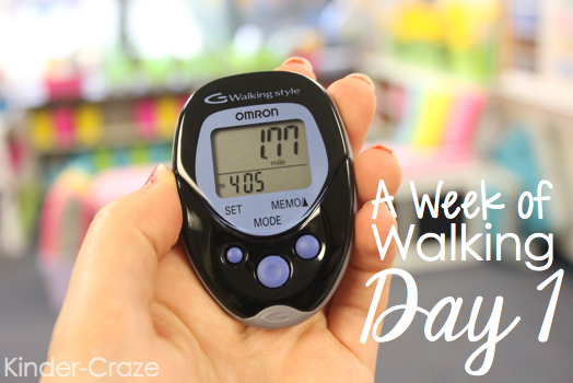 easy way to monitor your daily activity level… wear a pedometer to work