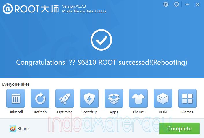Cara Root Samsung Galaxy Fame s6810 Dengan vRoot 5