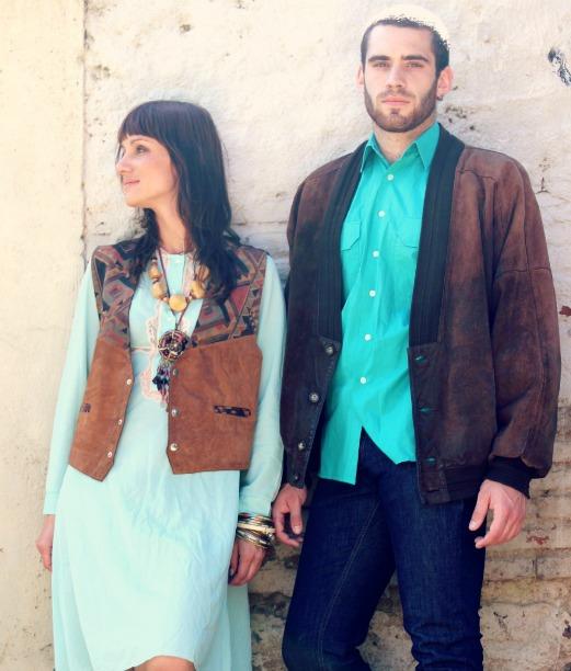 camisa turquesa vintage