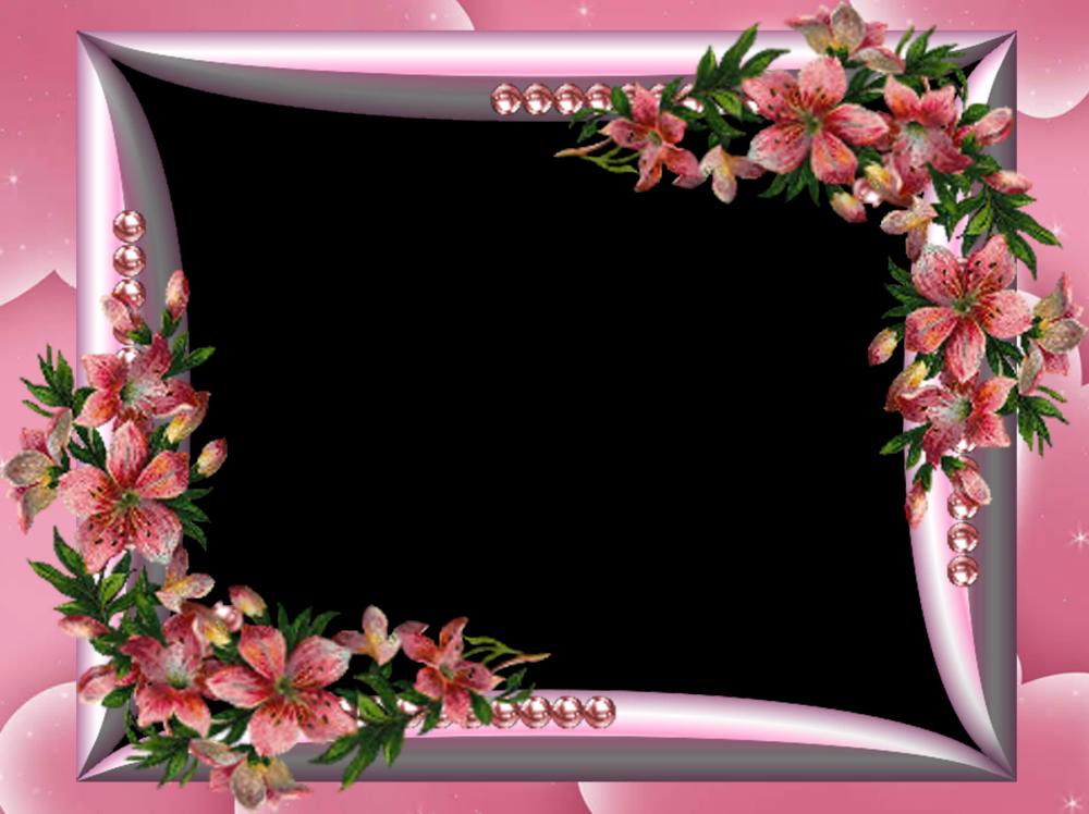 Delicados Marcos Para Fotos Florales En Png  2   Parte