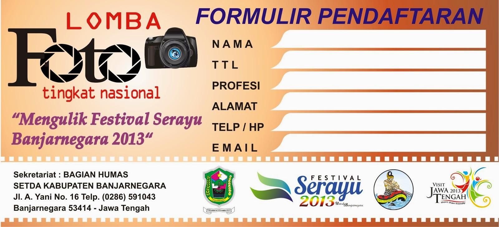 contoh formulir pendaftaran lomba tingkat nasional