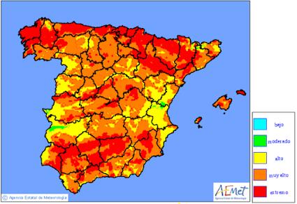 Mapa Riesgos Incendios Forestales