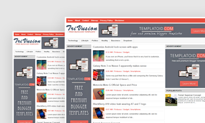 TriVusion Blogger Template