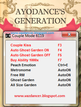 Cheat Hack Kiss & Hack Garden AyoDance V6119