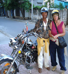 Me and my motorcyle companion in Dalat, Vietnam