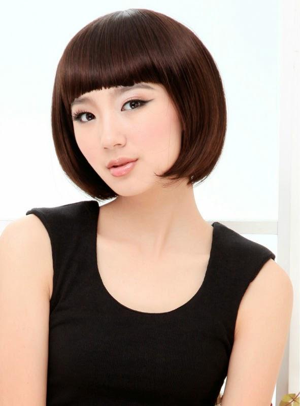 peinados y tendencias de moda cortes de pelo con flequillo mujeres asiticas