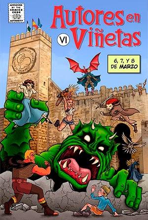 """Cartel 6ª edición de """"Autores en Viñetas"""""""