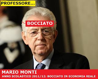 MARIO MONTI BOCCIATO IN ECONOMIA REALE