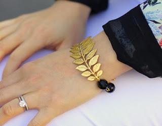 Gold Leaf Bracelet