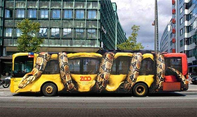 Creative Bus Advertisement Campaign for Copenhagen Zoo
