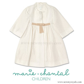 Princess Estelle Style Marie Chantal Jacquard Coat