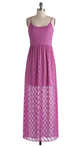 Pink orchid colored maxi dress from Modcloth