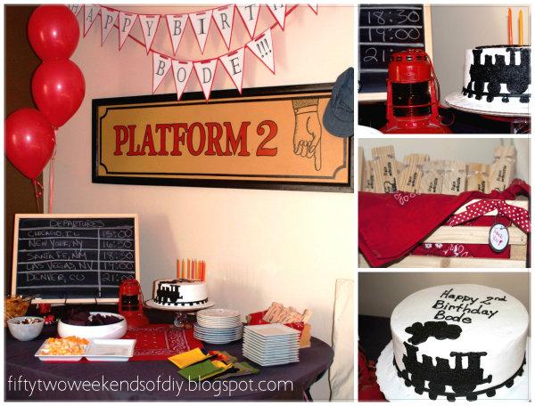 Vintage Train Theme Birthday Party
