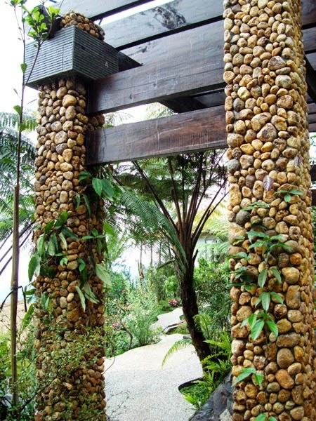 batu alam taman rumah