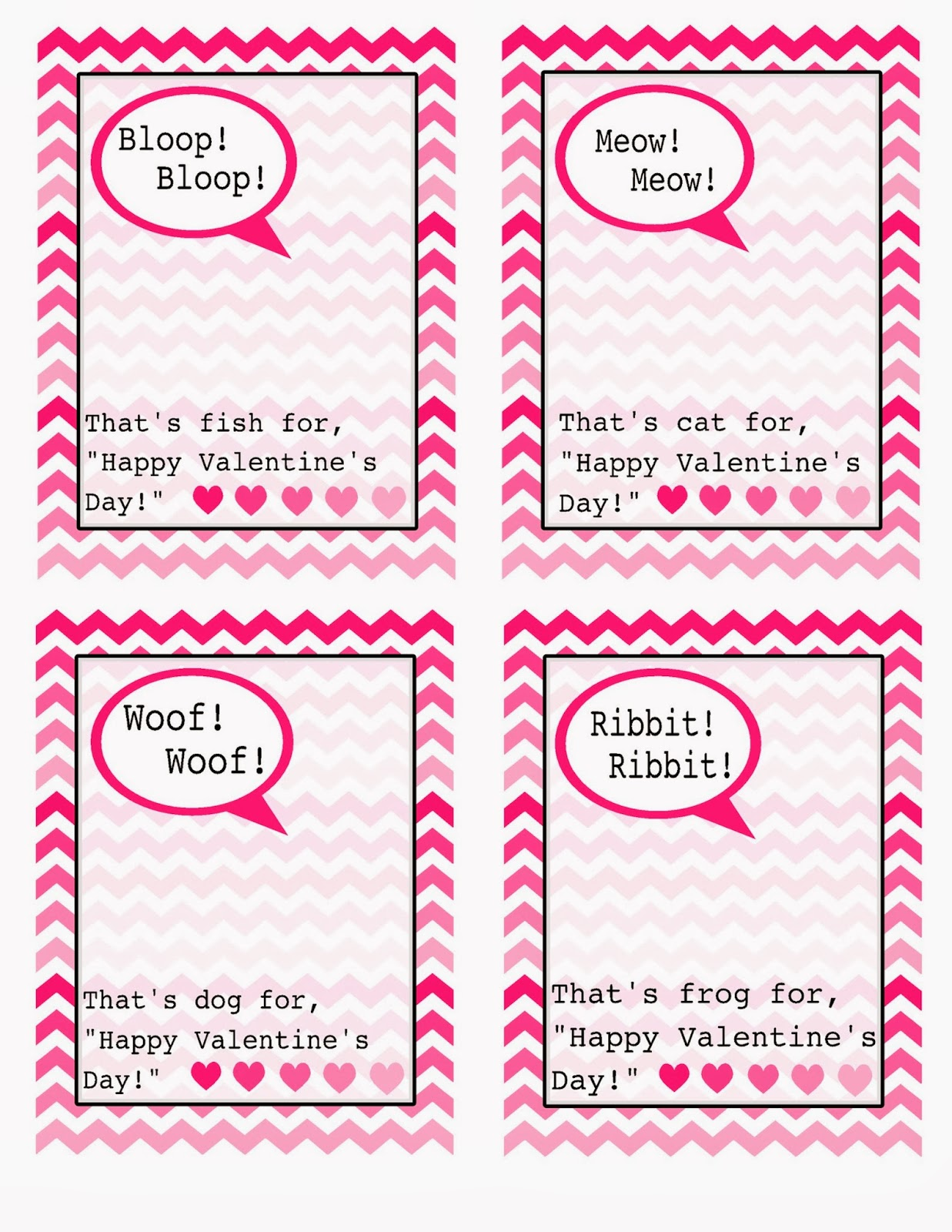 The Jacobs Clan Valentines Day Cards Free Template – Template for Valentine Card