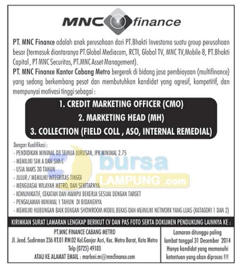 Karir Lampung Terbaru MNC Finance