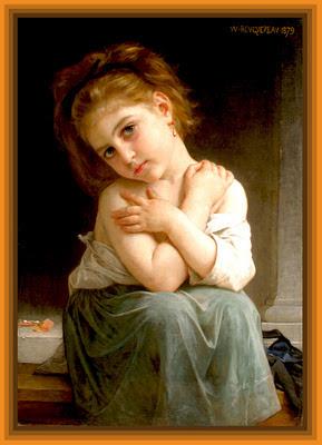 niña de William Adolphe Bouguereau imagen vintage