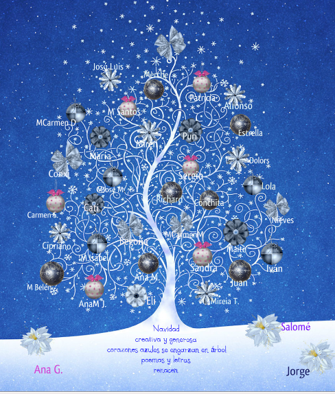 Arbol de navidad hecho con palabras wroc awski - Arbol tipico de navidad ...