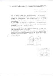 Escrito de UGT a la mesa electoral de la Consejería de Agricultura, Ganadería, Pesca y Desarrollo S