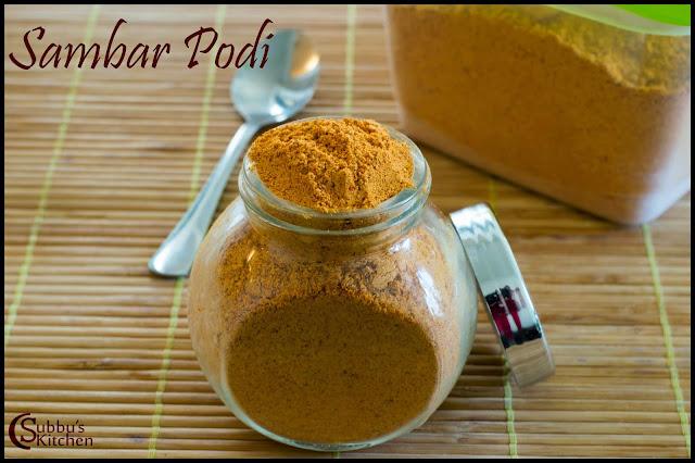 Sambar Powder(Sambar Podi/Masala)
