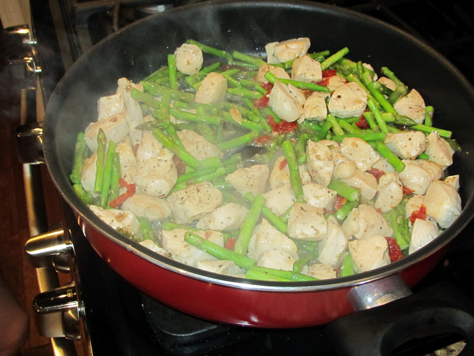 ... : Chicken and Asparagus with Goat Cheese and Sun-dried Tomatoes