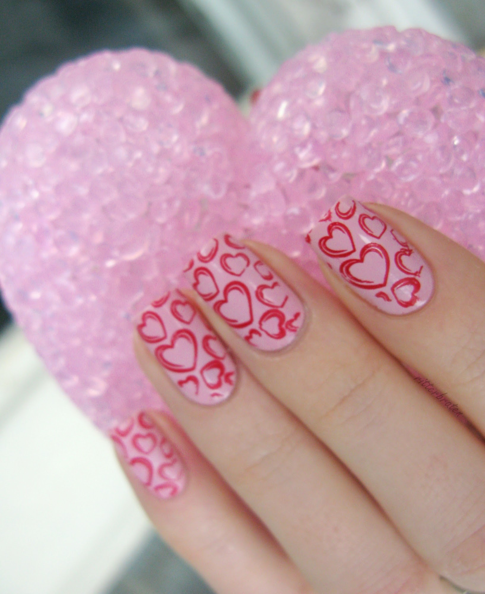 St Valentines day nails
