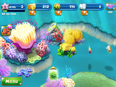 Nemo's Reef Free App Game By Disney